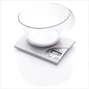 Terraillon RNIB Electronic Vocal Kitchen Scale with Transparent Bowl, White
