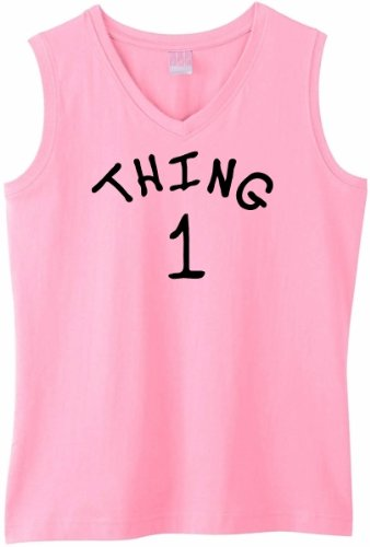 THING 1 on Womens Sleeveless V-Neck T-Shirt (in 8 colors)
