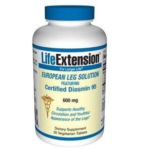 Life Extension Certified European Diosmin 95, Vegetarian Capsules, 600 mg, 30-Count