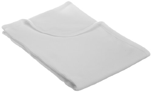 "American Baby Company Full Size 30"" X 40"" - 100% Cotton Swaddle/Thermal Blanket, White"