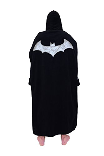 DC Comics Batman Mens Fleece Bathrobe & Swim Suit Cover Up with Cape at Gotham City Store