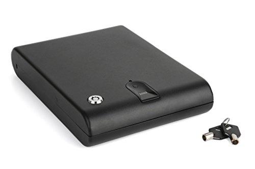 Ivation Portable Biometric Car Gun Safe - Features Electronic Digital Fingerprint Scanner & Security Cable