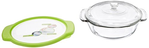 Anchor Hocking 2-Quart Glass Casserole Dish with Green TrueFit Lid and Glass Cover (Anchor Hocking Casserole Dish compare prices)