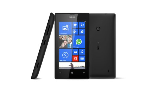 """Nokia Lumia 520 4.0"""" Lcd - 8Gb - (New Unlocked) Windows Phone 8 Smartphone With Cyan And Black Covers / English And Spanish"""