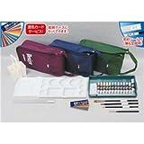 (まとめ)アーテック TPCデザインバッグセットB緑 【×5セット】