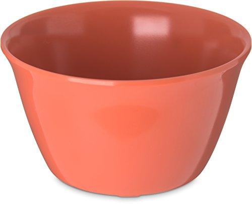 "Carlisle 4354052 Dallas Ware Melamine Bouillon Cup, 8-oz. Capacity, 3.84 x 2.15"", Sunset Orange (Case of 24)"