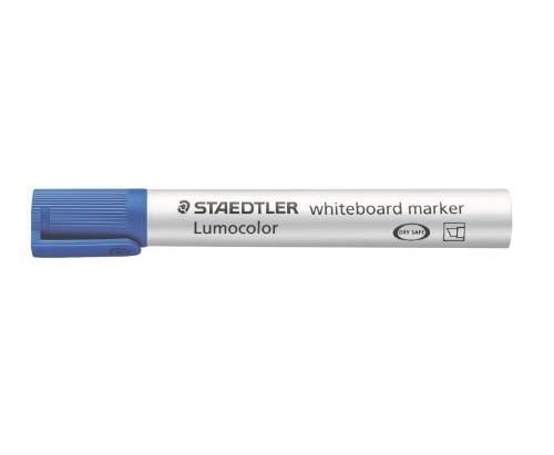 STAEDTLER Lot de 3 Lumocolors marqueur pour tableau blanc 351, bleu