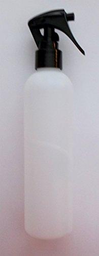 De bouteilles en plastique givré Slim Avec un noir brillant vaporisateur à gâchette et Jay Aligner 250ml, largement utilisé pour les liquides tels que les huiles de support, eaux florales, produits de base, huiles de massage