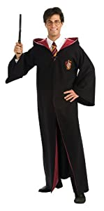 Harry Potter Adult Deluxe Robe, Black, Standard Costume