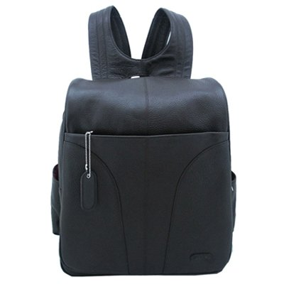 Laptop Accessories Site Amazon  on Leatherbay Laptop Backpack   Dark Chocolate Feature
