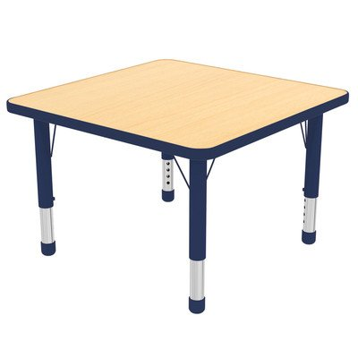 ECR4Kids 30 Square Activity Table Toddler Legs W Swivel Glides