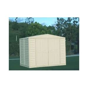 Click to read our review of DuraMax 8' x 6' Stronglasting DuraMate Vinyl Storage Shed With Foundation Kit