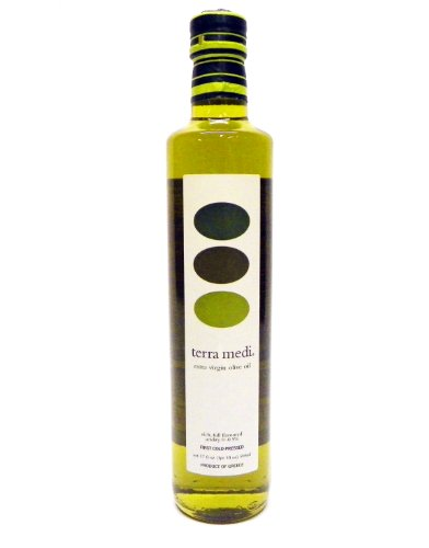 Terra Medi Greek Extra Virgin Olive Oil, 17 Ounce Bottles (Pack of 2)