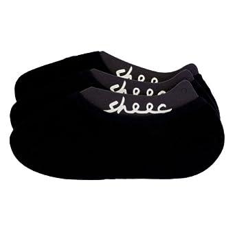 SHEEC - SoleHugger ACTIVE 3-Pair Pack - Men's No-Show Casual Socks (Black/ Large)
