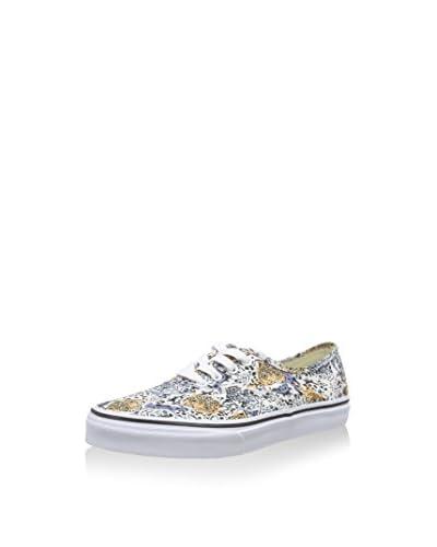 Vans Sneaker K Authentic weiß/blau/gelb
