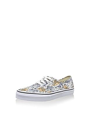 Vans Zapatillas K Authentic (Blanco / Azul / Amarillo)