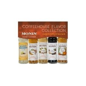 Monin 5-Pack Coffeehouse Flavor Collection Sample Set