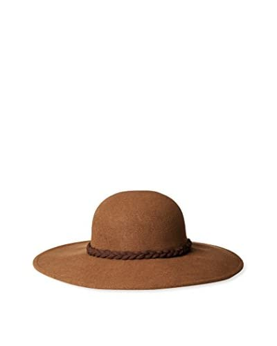 Giovannio Women's Floppy Hat with Braided Band, Brown Solid