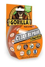 Gorilla Tape Clear Repair Tape 8.2m