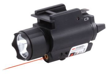 Ncstar Tactical Red Laser Sight And 3W 120 Lumens Led Flashlight With Weaver Quick Release (Aqpfls)