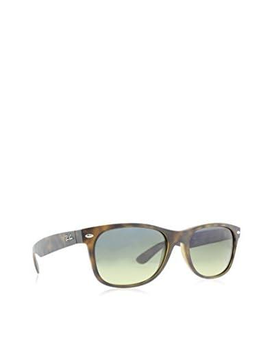 Ray-Ban RB2132 New Wayfarer Polarized Sunglasses,Matte Havana/Blue/Green Mirror Polarized,55 mm