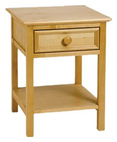 Bolton Furniture 8001200 Wakefield 1 Drawer Nightstand with Shelf, Natural