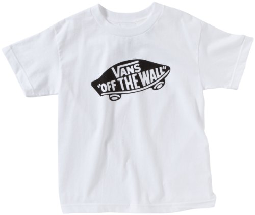 "Vans - OTW ""Off the Wall"" BOYS, Maglietta per ragazzo, Bianco/Nero, S"