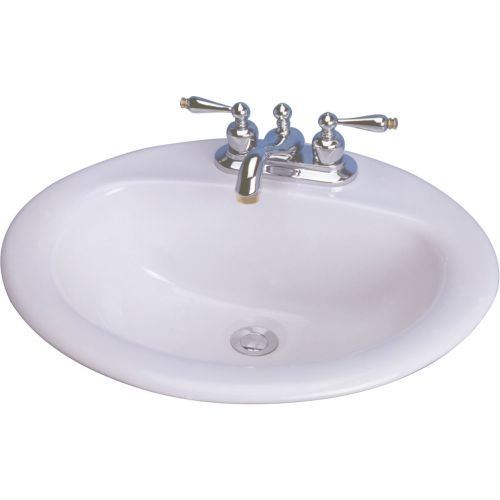 Cascadian L1290WH4 20-Inch by 17-Inch Oval Lavatory Sink, White (White 20 Inch Rims compare prices)