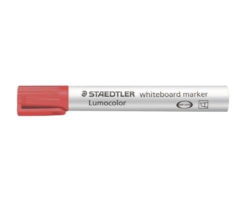 STAEDTLER Lot de 3 Lumocolors marqueur pour tableau blanc 351, rouge