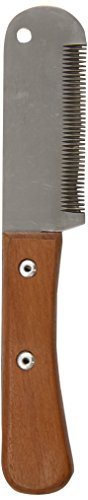 TAMSCO 6-Inch Stripping Knife, Wooden Handle Medium Teeth, 3-Inch Blade, Hardened Stainless Steel