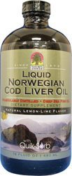 Liquid Norwegian Cod Liver Oil, Lemon Lime Flavored, 16 oz. From Nature's Answer (Answers From Nature compare prices)