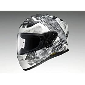 �V���[�G�C(SHOEI) XR-1100 MERCILESS(�}�[�V���X) TC-6(WHITE/GREY) L (59cm)