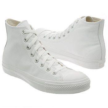Order Converse Chuck Taylor All Star Leather Hi White Mono