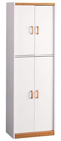 White Four Door Pantry Cabinet