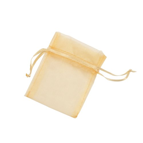 Weddingstar Large Sheer Rectangular Organza Bags, Gold