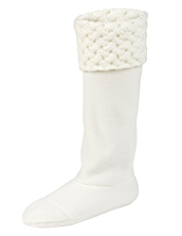 Basket Weave Hem Welly Socks