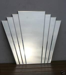 Art Deco Fan Style Mirror 85 Cm X 100 Cm