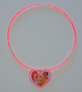 Disney Pink Sparkle and Glow Necklace (2 pack) - Makes a Great Stocking Stuffer!