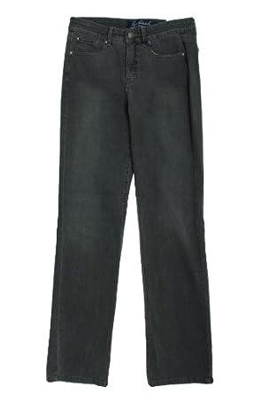 Gloria Vanderbuilt Linda Womens Straight Leg Denim Jeans Eclipse Wash Light Gray 8
