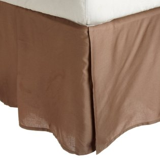 "300 Thread Count 100% Egyptian Cotton Solid Taupe King / California King 18"" Drop Length Bed Skirts front-998164"