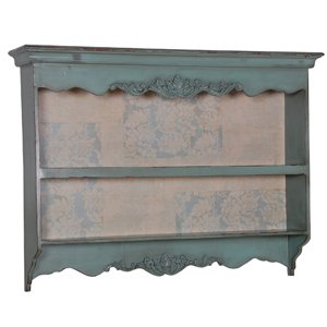 Shabby Chic Duck Egg Blue Kitchen Carved Wall Rack.