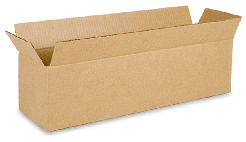 EcoBox 24 x 6 x 6 Inches Corrugated Box - 15 Boxes (E-86-15)