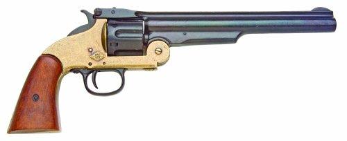Denix 1869 Schofield Style Revolver, Brass and Black - Non-Firing Replica (Gun Replica Non Firing compare prices)