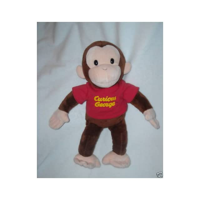 f9174312e0 Russ Berrie Curious George with Red Shirt 16 Plush on PopScreen