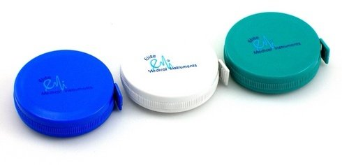 3 PACK: Retractable Medical Body Tape Measure White, Teal, and Royal Blue