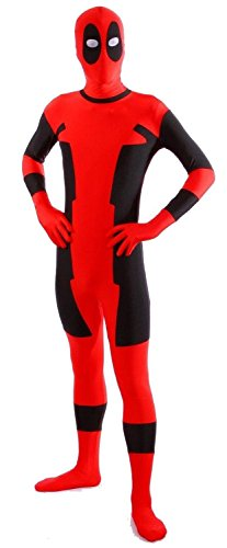 Howriis Deadpool Costume (Kids Medium, Red)