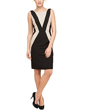 Comma Damen Kleid (knielang) Regular Fit 89.304.82.2240 KLEID KURZ, Gr. 38, Schwarz (9999 black)