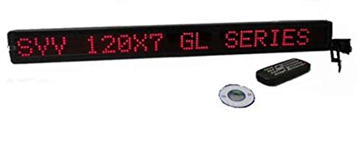 One Line Led Indoor Red Led Programmable Display Sign With Wireless Remote Control