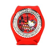 Eikoh / Sanrio Official Sanrio Hello Kitty London Bus Silicon Snap On Watch