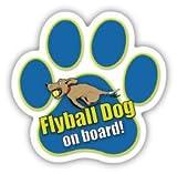 【アニマルズインク】 足跡型マグネット(ミニ) / Flyball Dog on board! / フライボール ドッグ